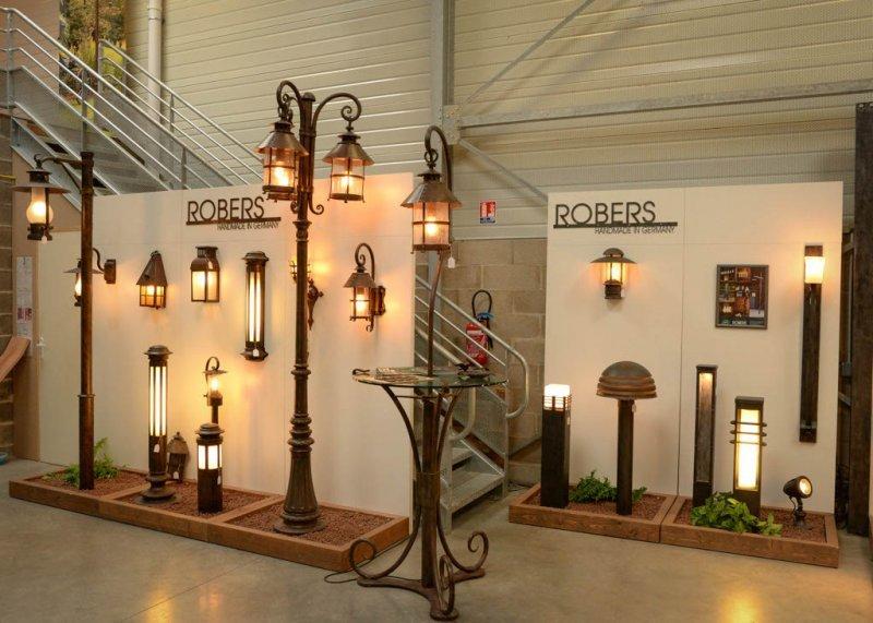 Exposition luminaires de prestige et ferronnerie d'art Robers