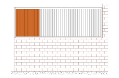 grille séparation mur béton